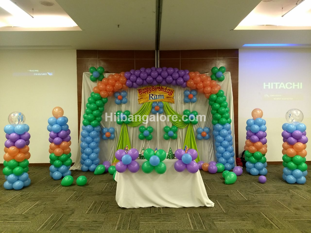 rainbow theme decoration bangalore
