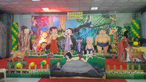 Chota bheem theme balloon decoration
