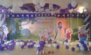 snow white theme decoration bangalore