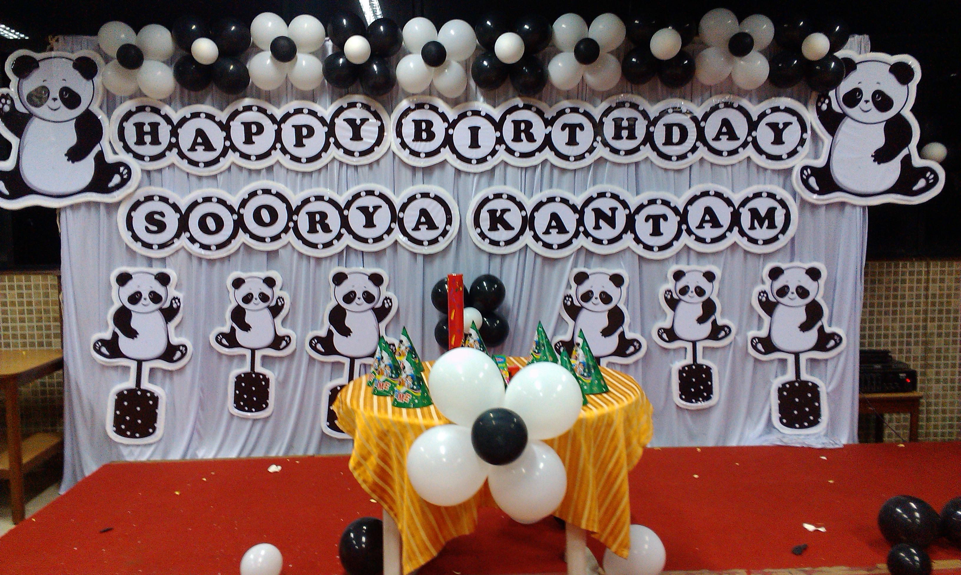 panda theme basic decoration - Hiibangalore.com