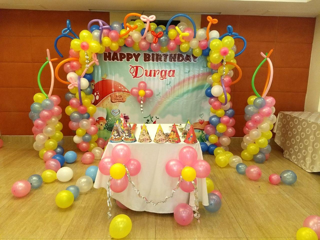 rainbow theme birthday decoration bangalore
