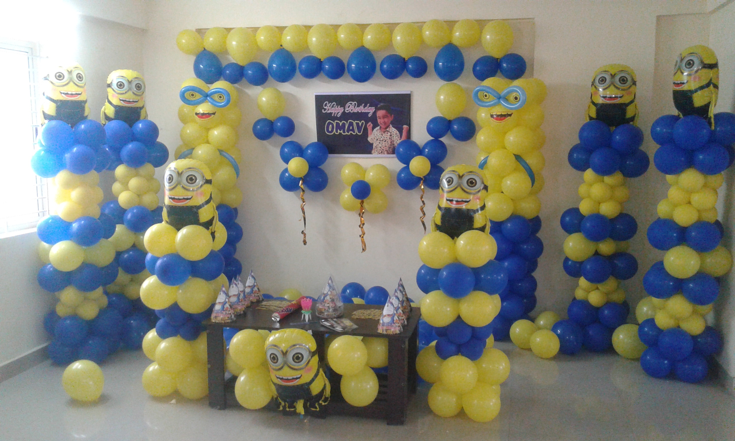 Minions Theme Birthday Party Decoration