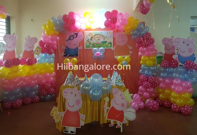 pepa pig theme birthday decorations