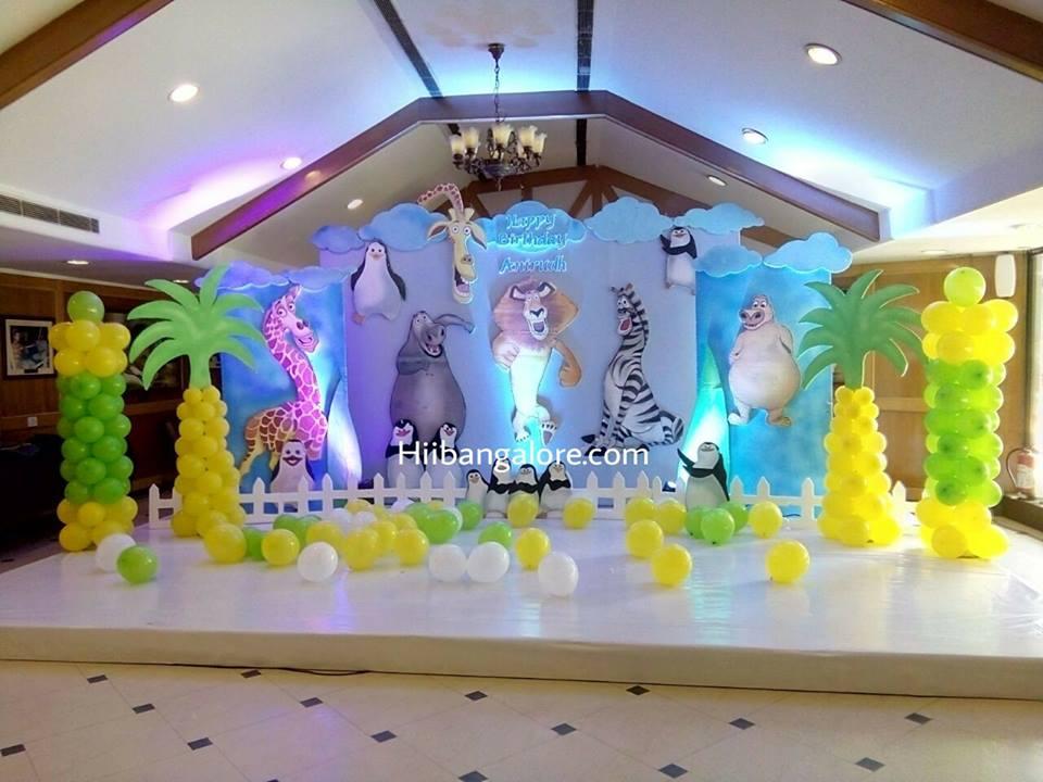 madagaskar theme birthday party banaglore