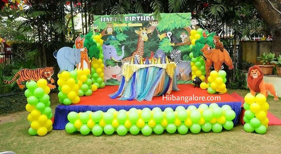 jungle theme birthday decorations