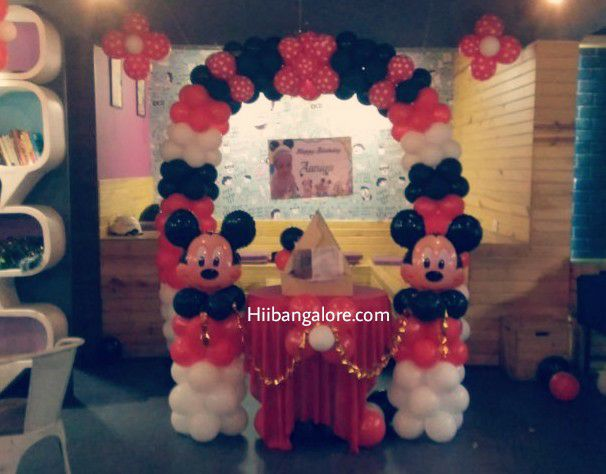 mickey mouse theme simple balloon decorations