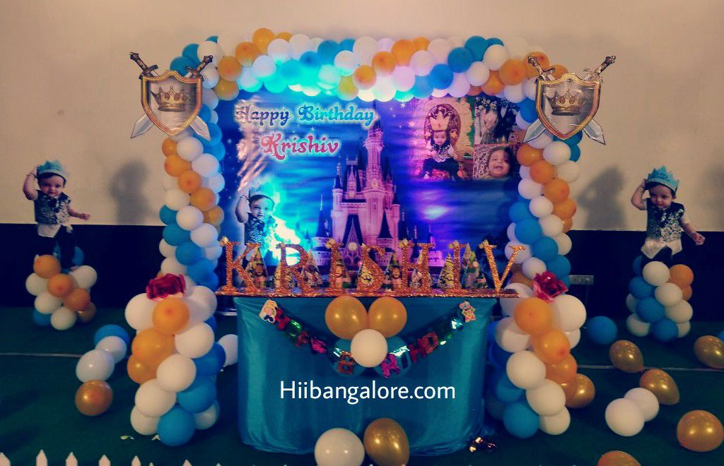 prince theme balloon decoration bangalore