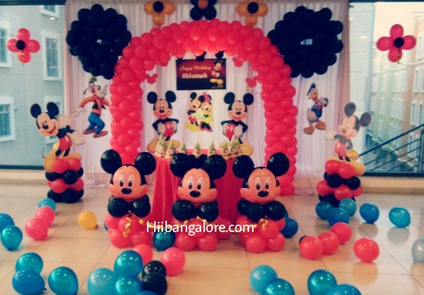 Mickey mouse theme balloon deoration bangalore