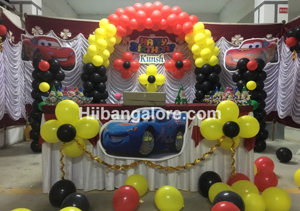 Cars Theme Birthday Decoration Bnagalore