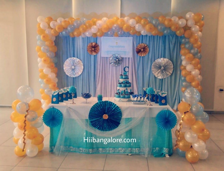 Christianity function balloon decoration bangalore