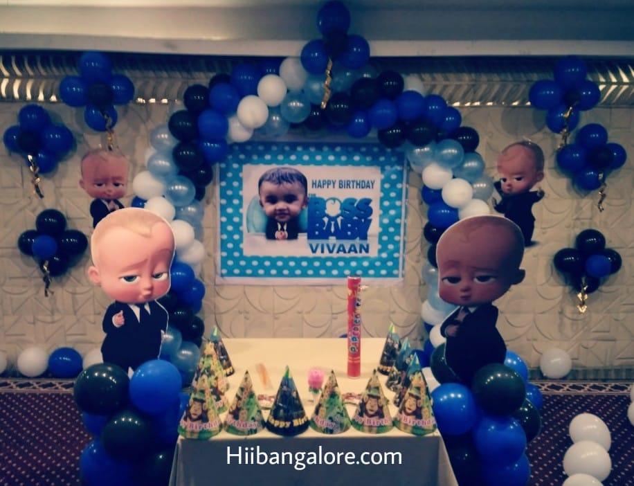 Boss baby theme birthday decoration