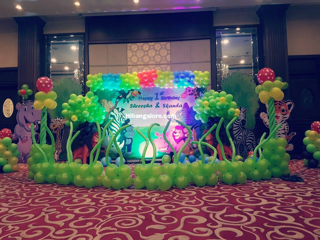 jungle theme 3d decorations