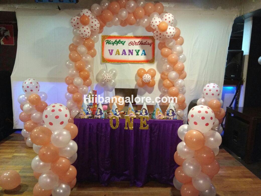 birthday party simple balloon decoration