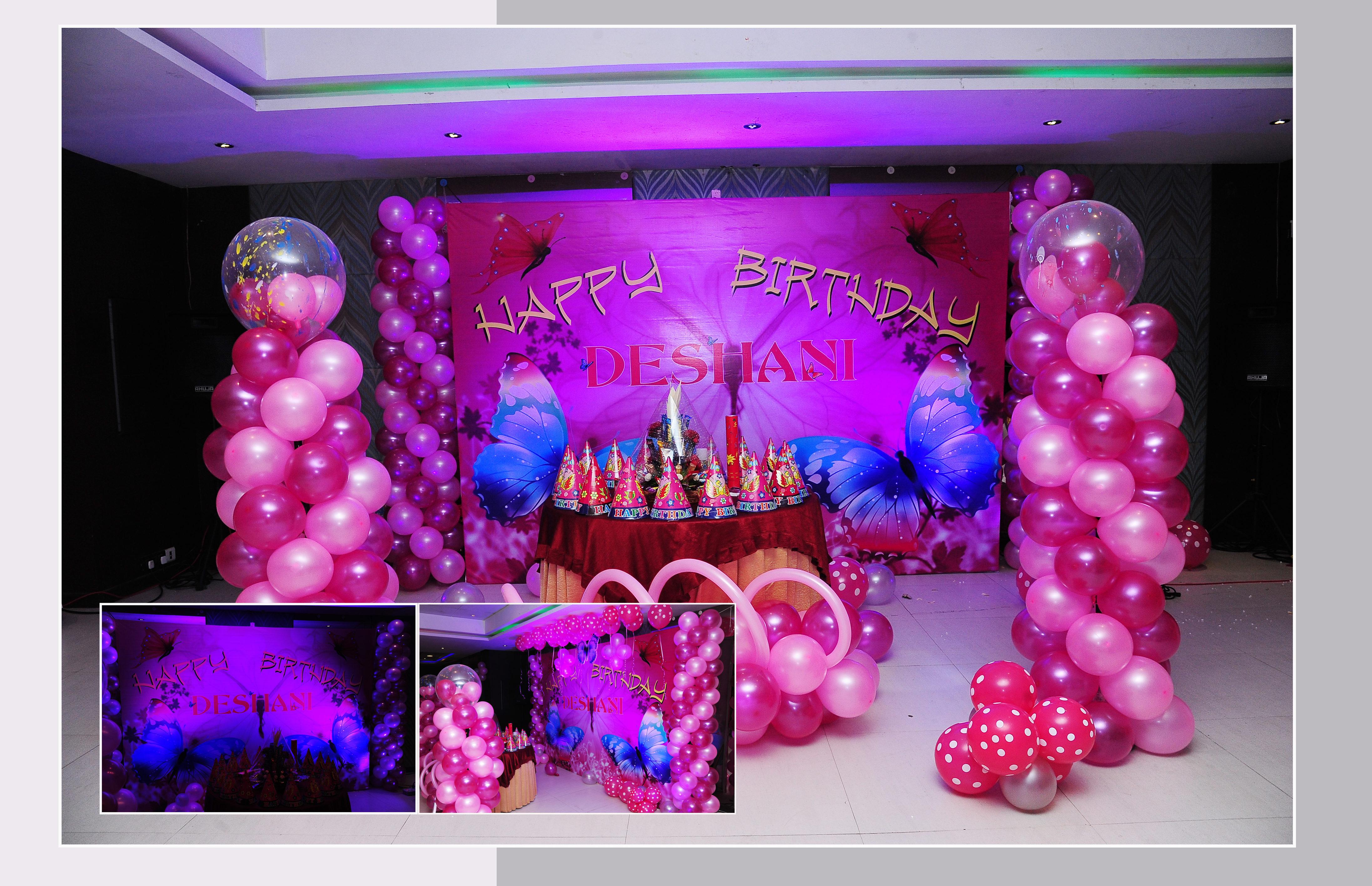 girl theme birthday decoration