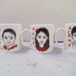 Birthday party mug caricature artist