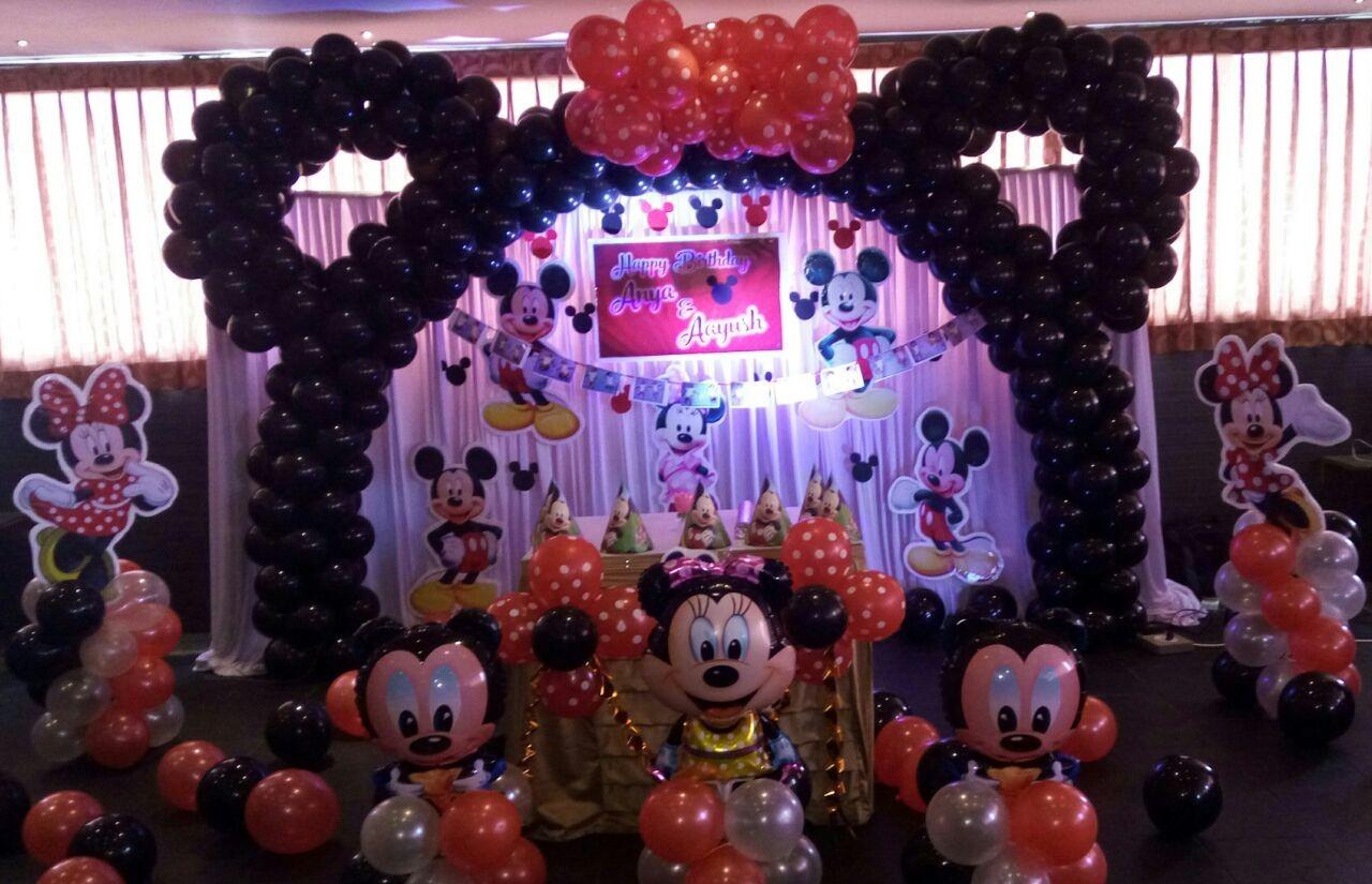 minnie mouse theme birthday decoration