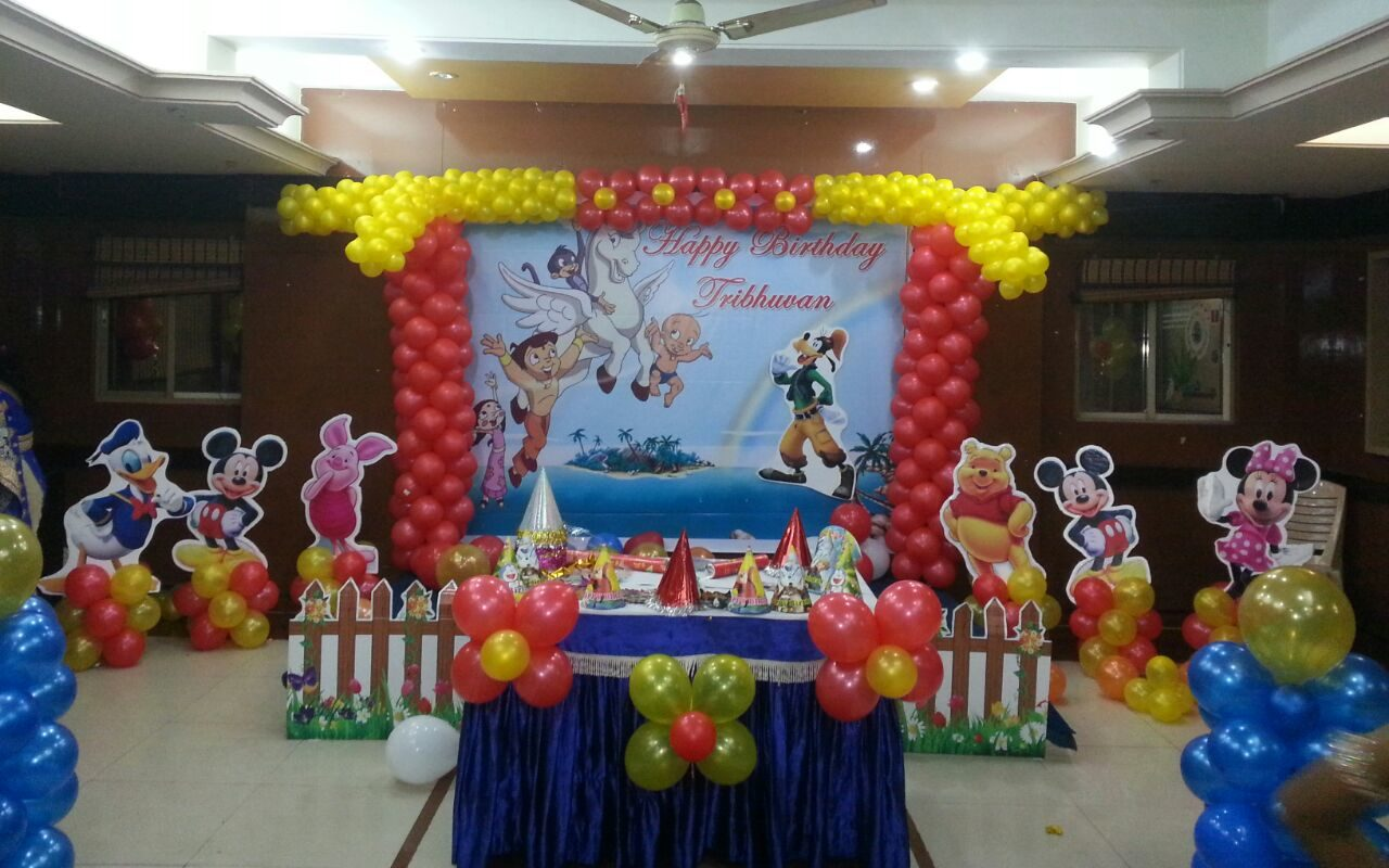 mickey and chota bheem theme decoration