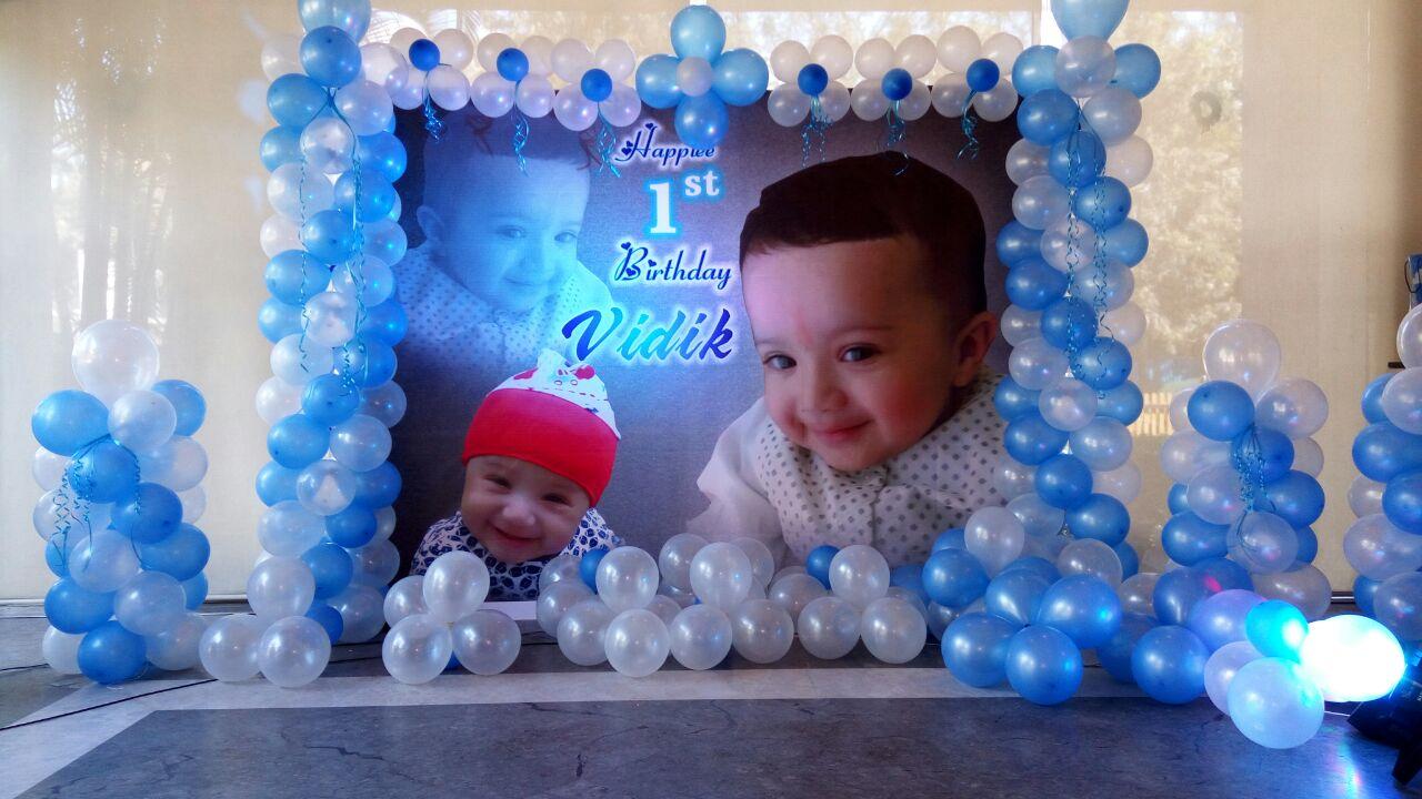 Kids birthday banner decoration