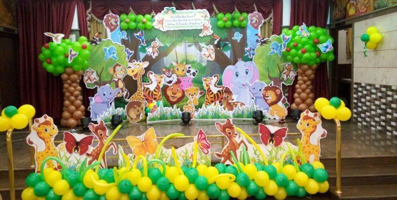 Birthday party jungle theme 3D decoration