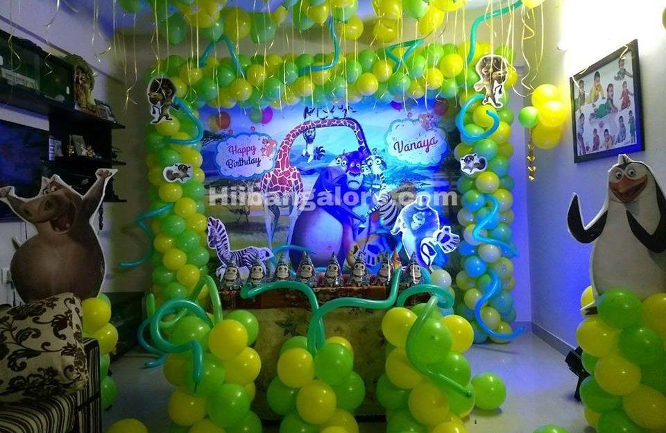 madagaskar theme birthday decoration