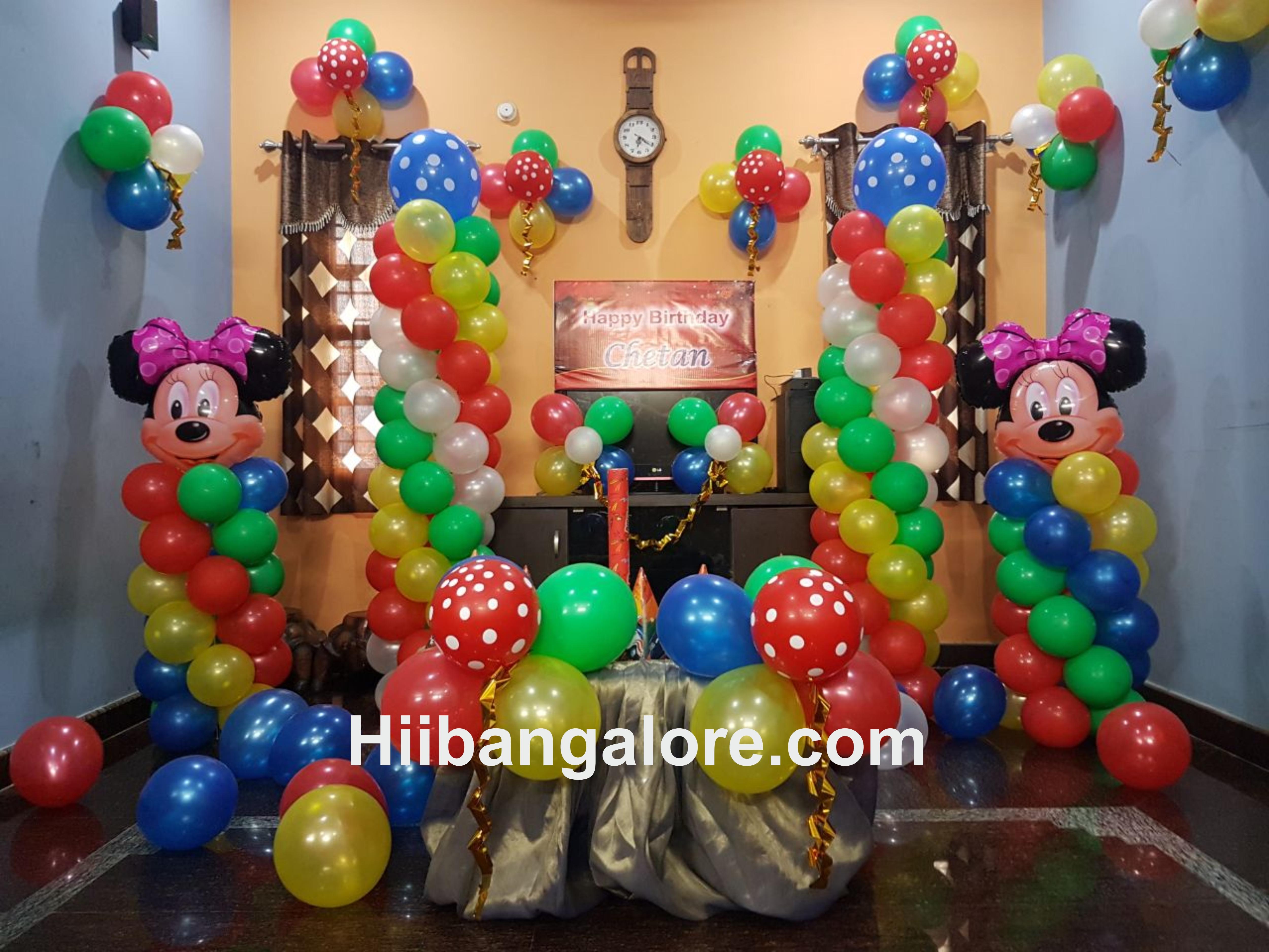 kids birthday party balloon decoration