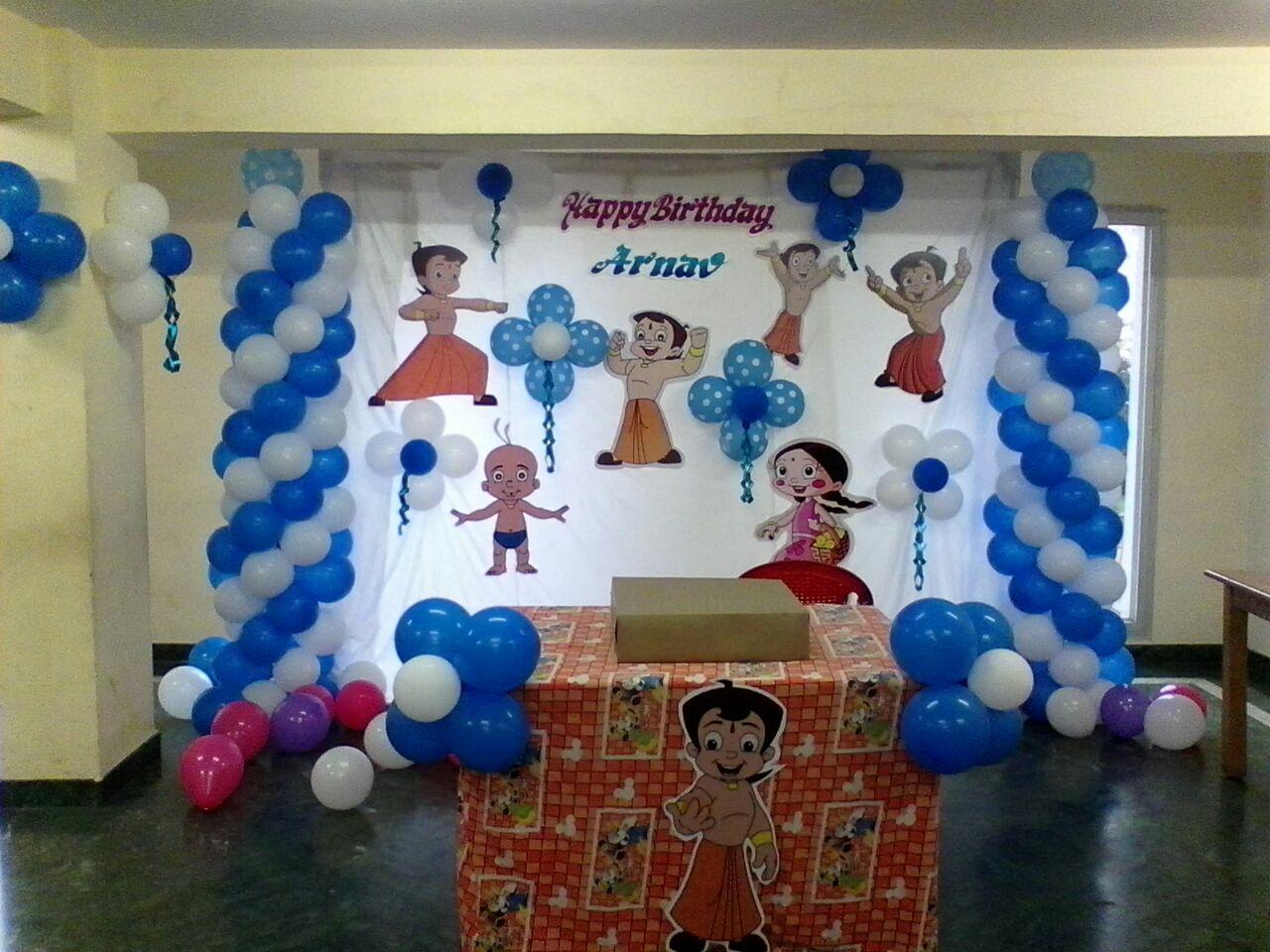 Chota Bheem Theme Screen Decoration Hiibangalore Com