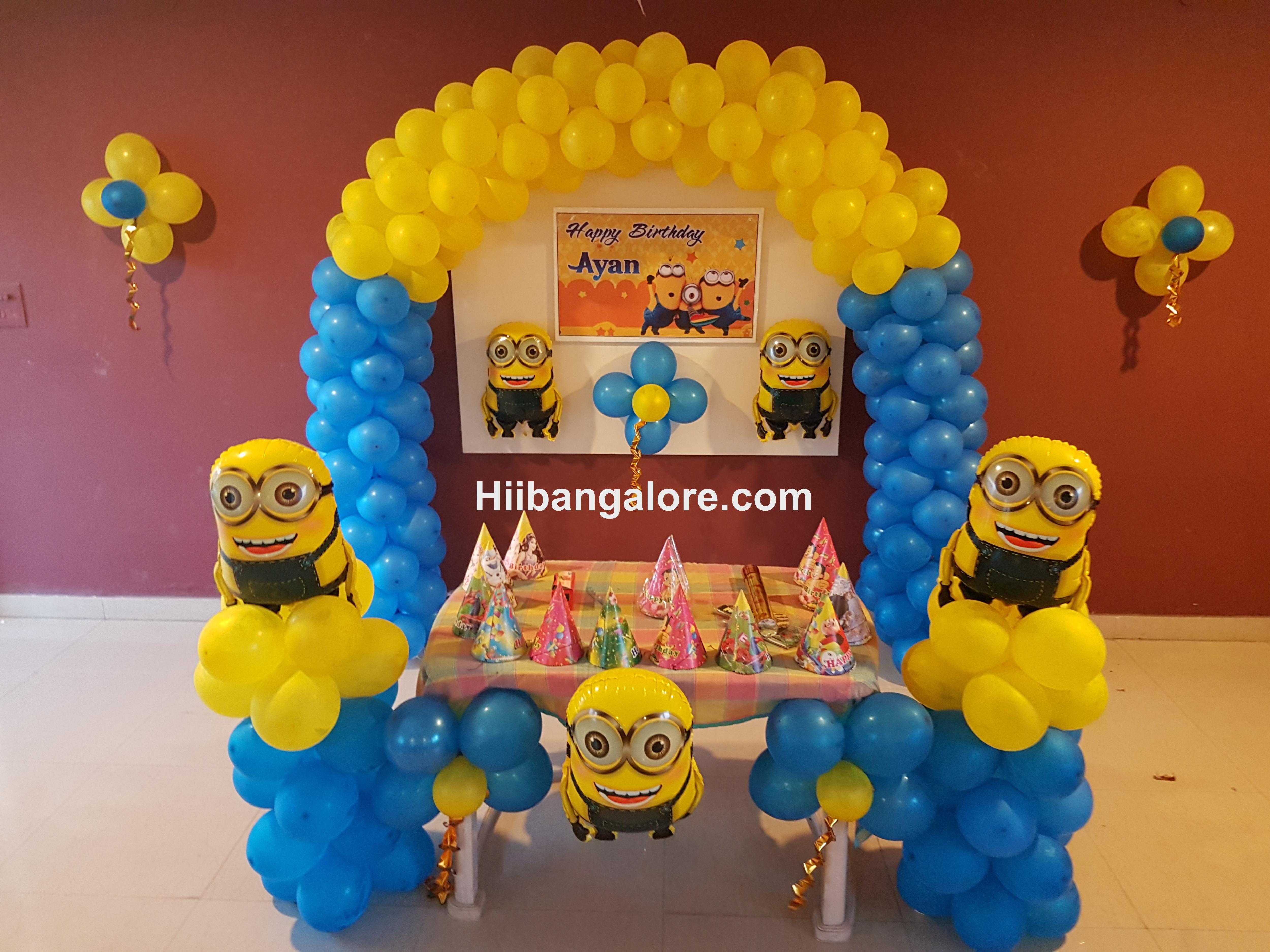 birthday party minion decorations