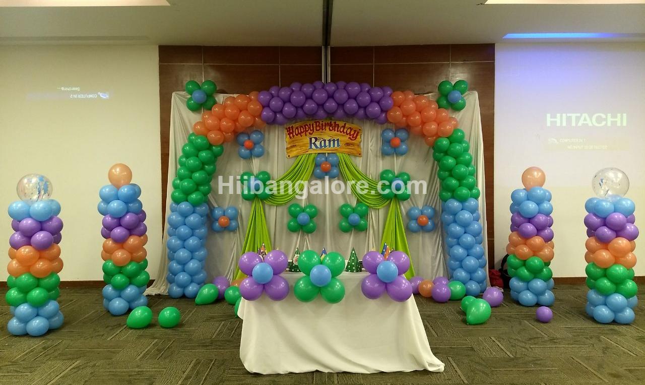 rainbow theme decoration bangalore