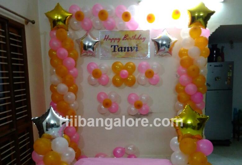 stars simple birthday decoration bangalore