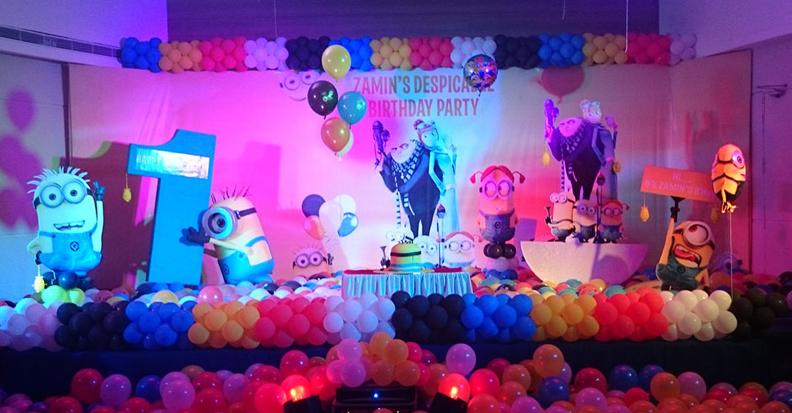 minions themed birthday party bangalore