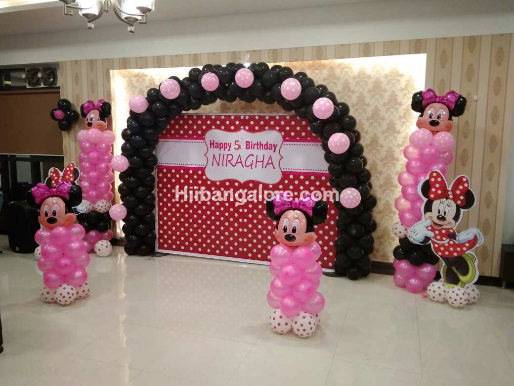 Minney mouse theme decoration bangalore