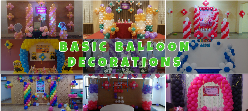 simple balloon decorators in Bangalore