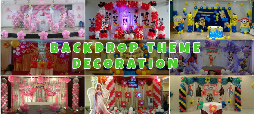 Backdrop balloon decorators in Bangalore