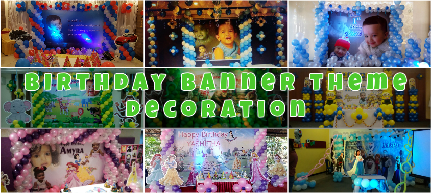 banner theme birthday decorations in bangalore