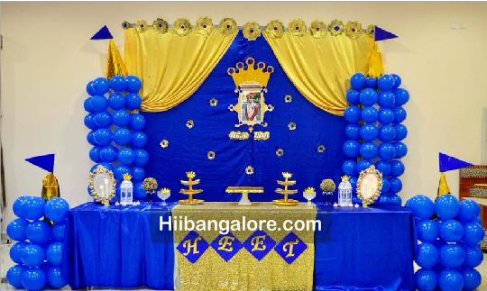 Royal Blue Prince Theme Birthday Party Decorations
