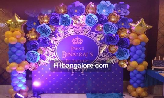 Paper Crafts Prince Theme Birthday Party Decorations Bangalore