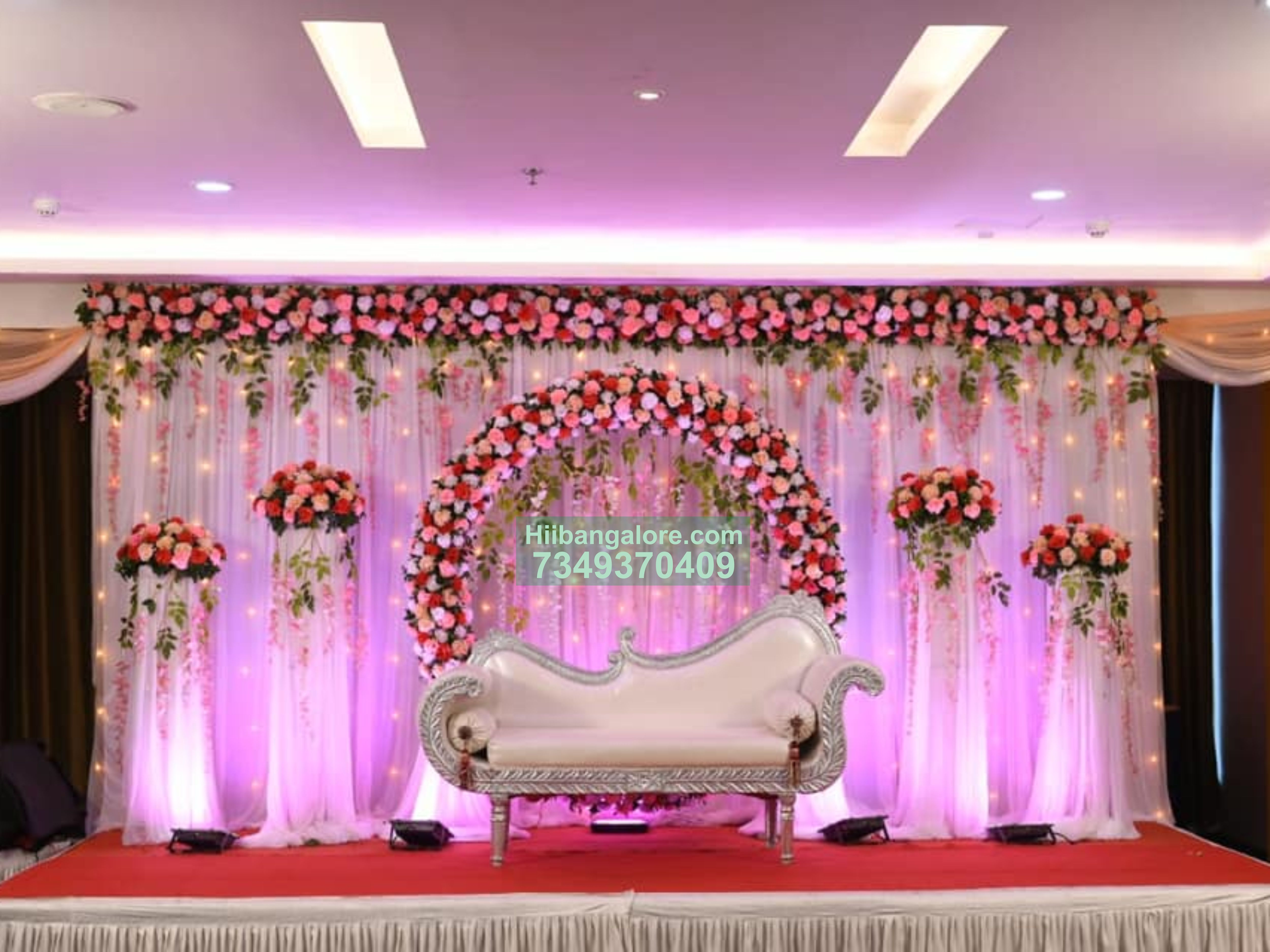 Grand Flower Decoration For Engagement Ceremony Best Birthday Party Organisers Balloon Decorators Birthday Party Caterers In Bangalore