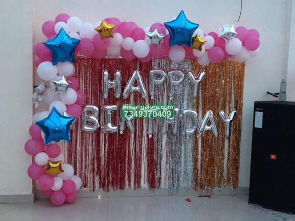 Simple Balloon Decoration On Terrace Best Birthday Party Organisers Balloon Decorators Birthday Party Caterers In Bangalore